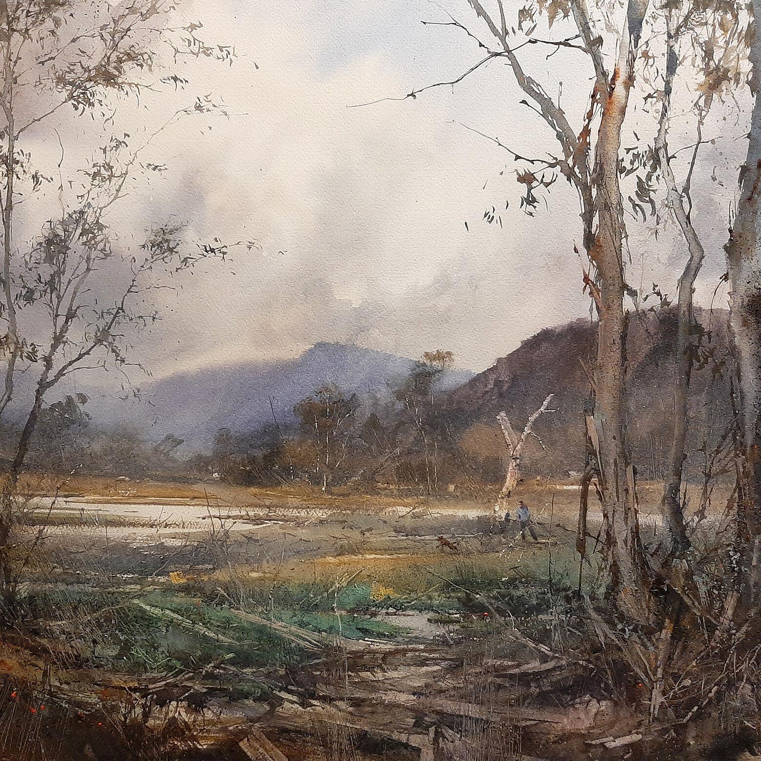 Julian Bruere VAS FVAS—Phantom Scene Eleven, Watercolour, $3000_Highly Commended 2021