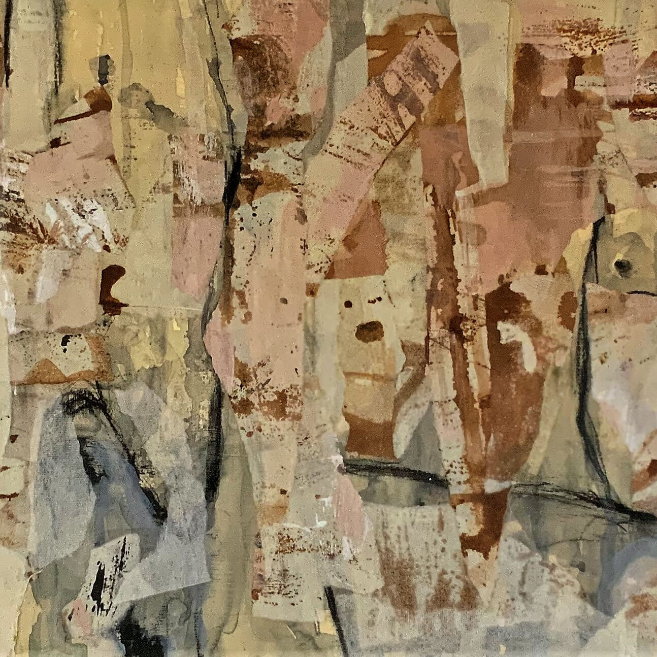 Robyn Pridham _Untitled_Mixed media and collage.