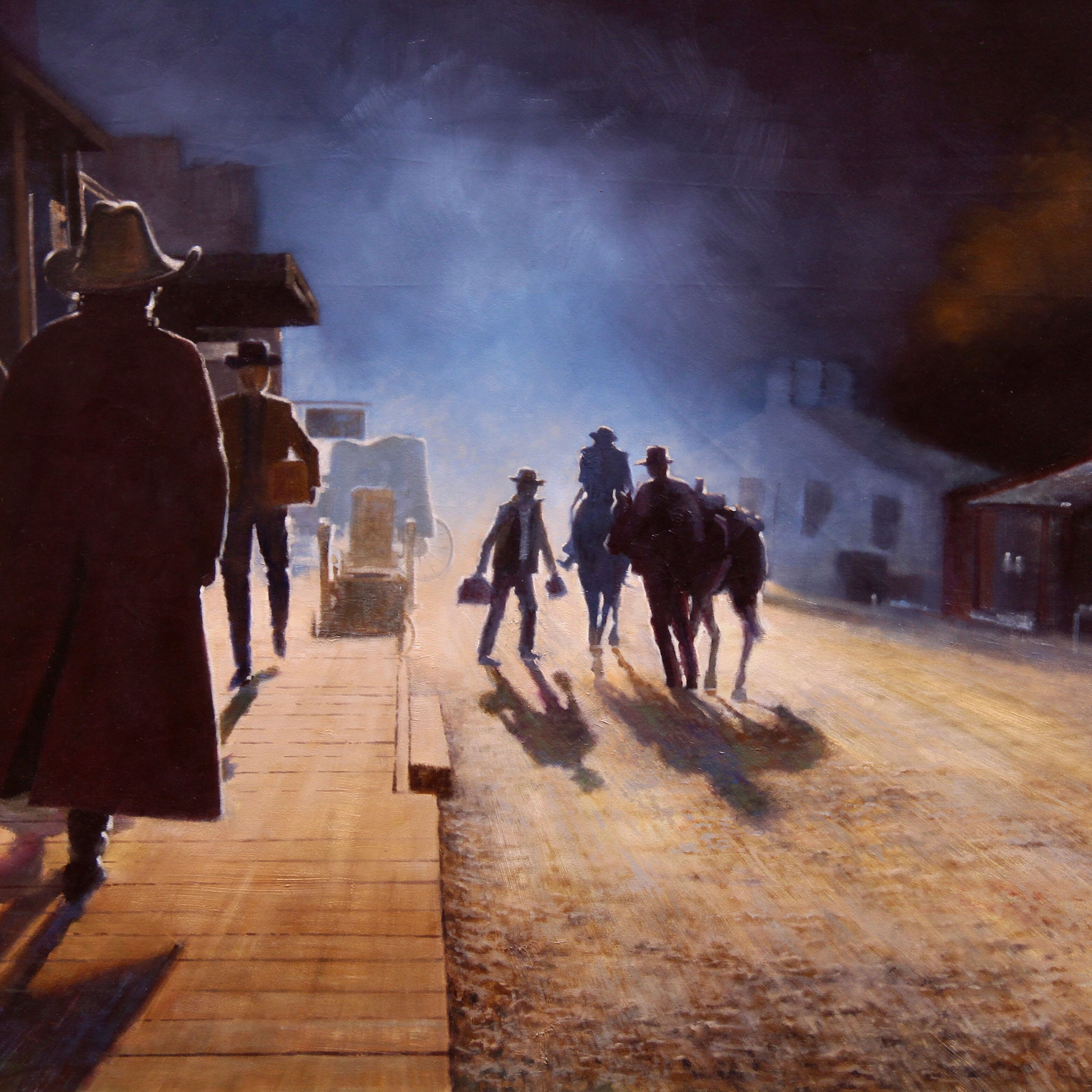 018C_Fred_Toumayan_The Olden Days_Oil_4800
