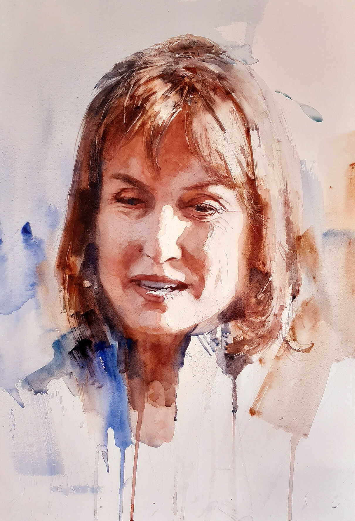 Fiona Bruce from the Telly by Julian Bruere