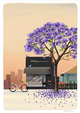 Jacaranda - digital by Parul Sen