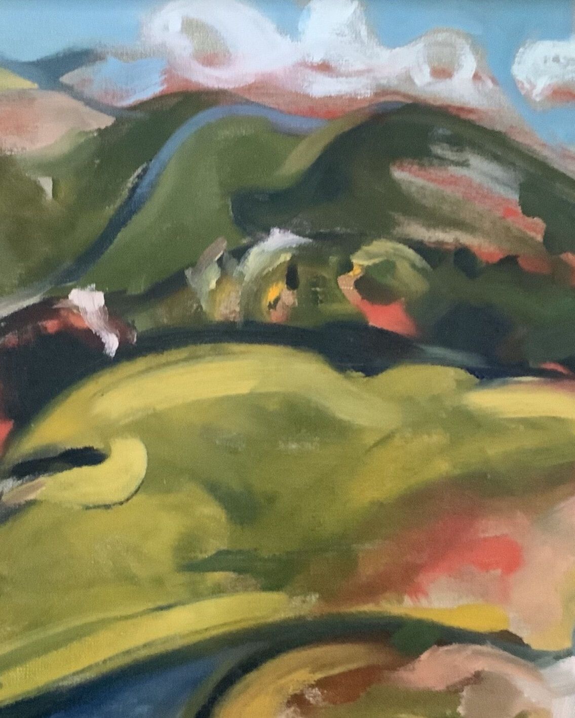 Joseph Luczynski Title - Rolling Hills - Oil on Canvas. copy
