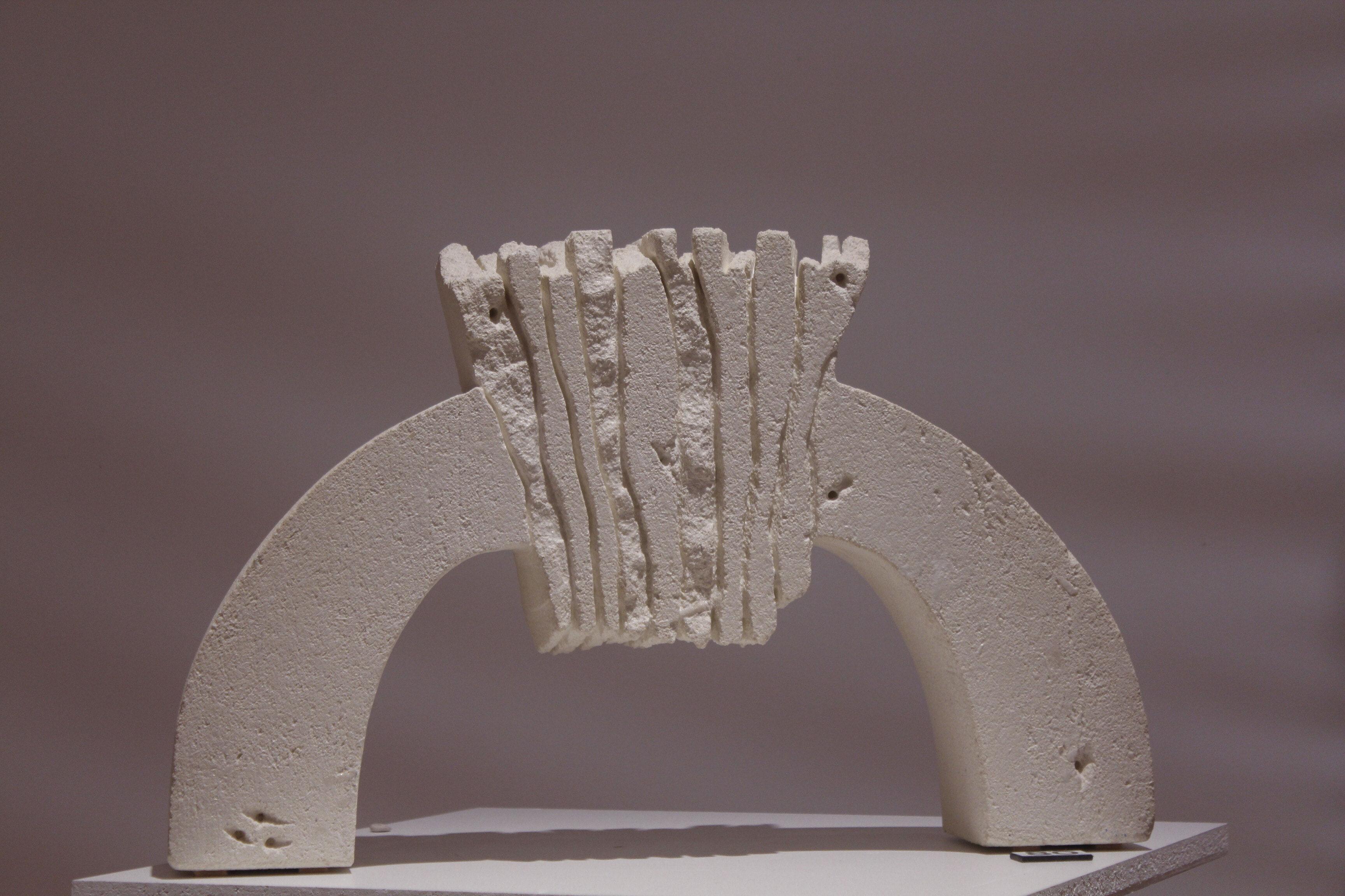 80c_Maxine Wain_Keystone II_Sculpture_Limestone