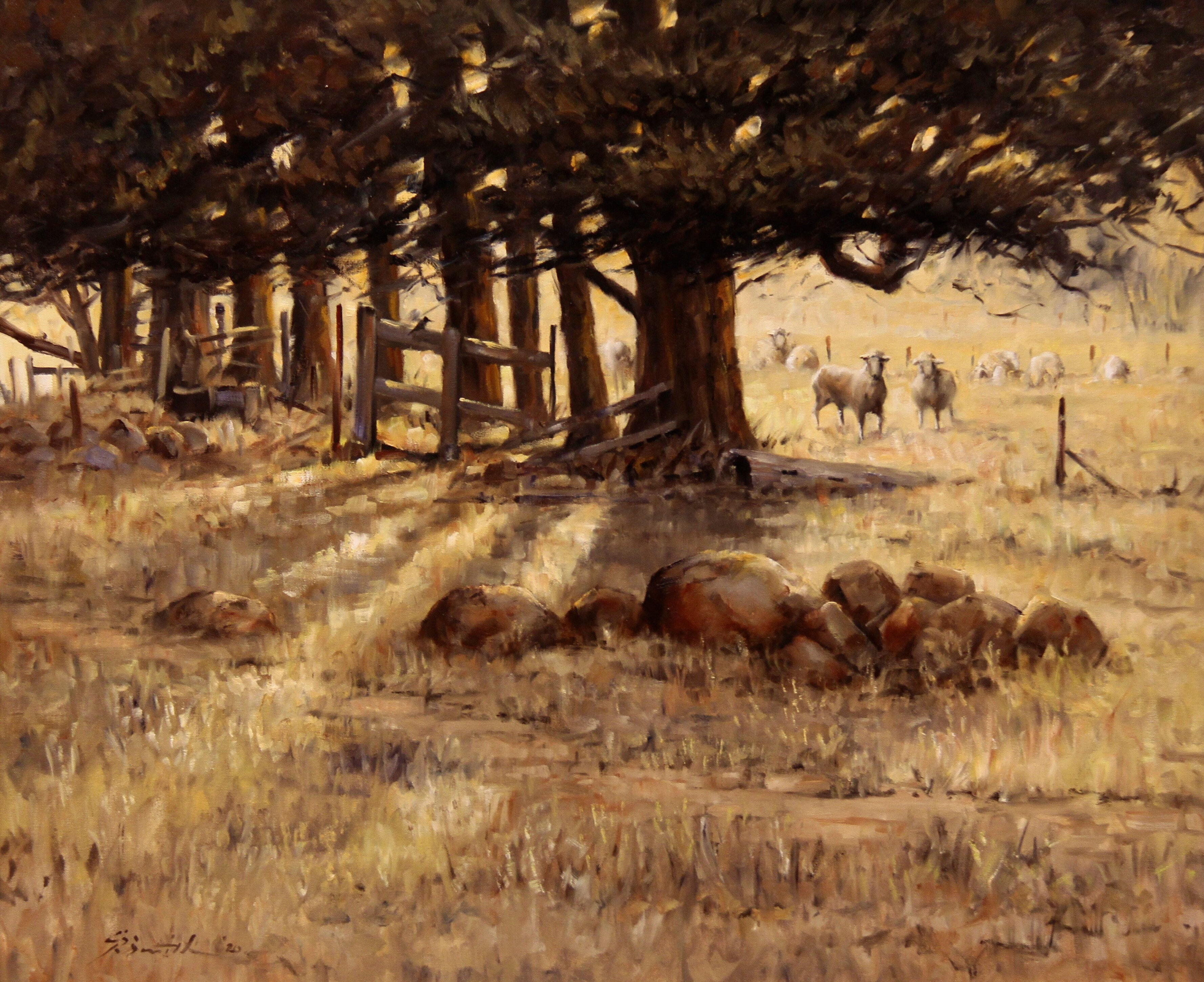 019D_Gregory_R_Smith_Summer'sDawnthroughtheCypress_Oil_5000
