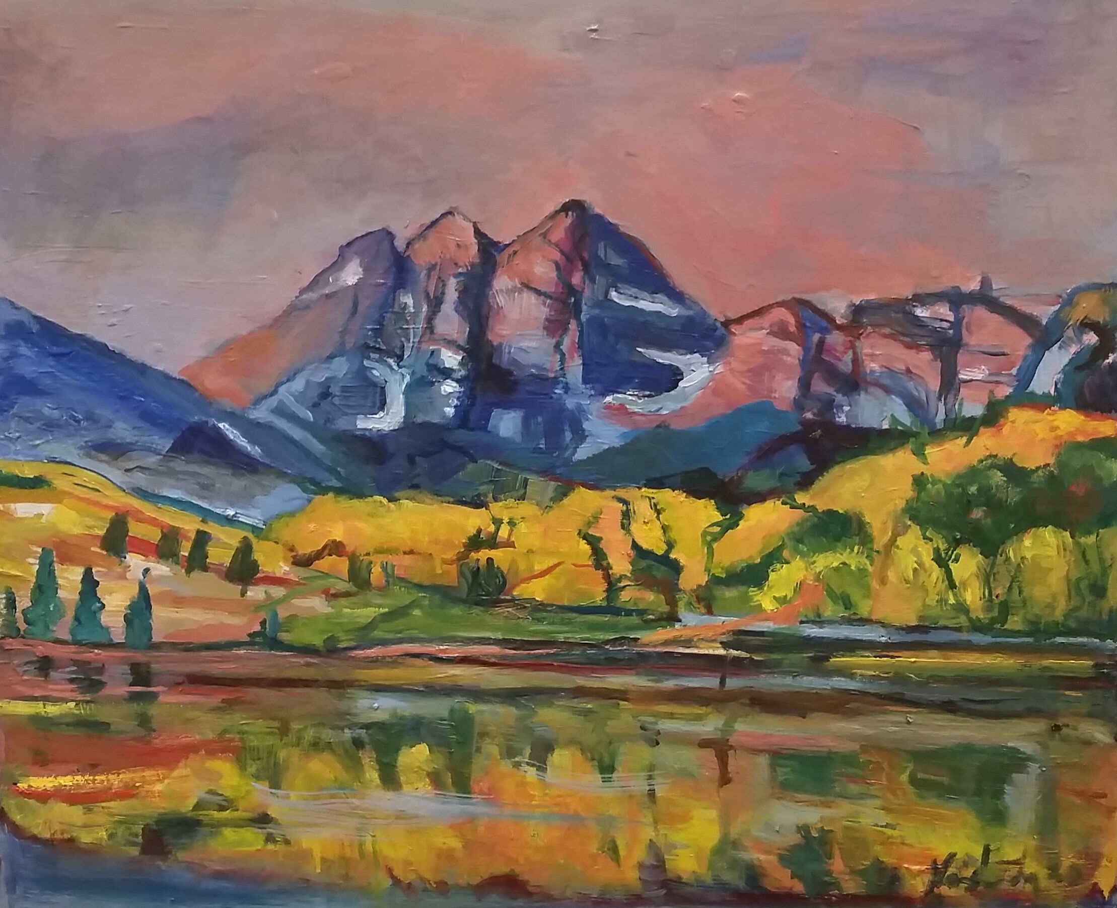 Nathan Moshinsky VAS—Canadian Autumn, Oil on Canvas Board, $1200_highly commended 2021