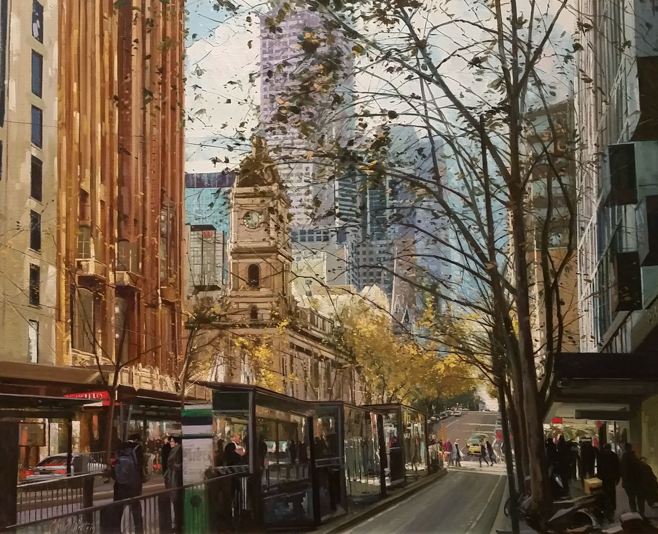 Chris White, Winter, Collins Looking East, Oil on Canvas, $3500_highly commended 2021
