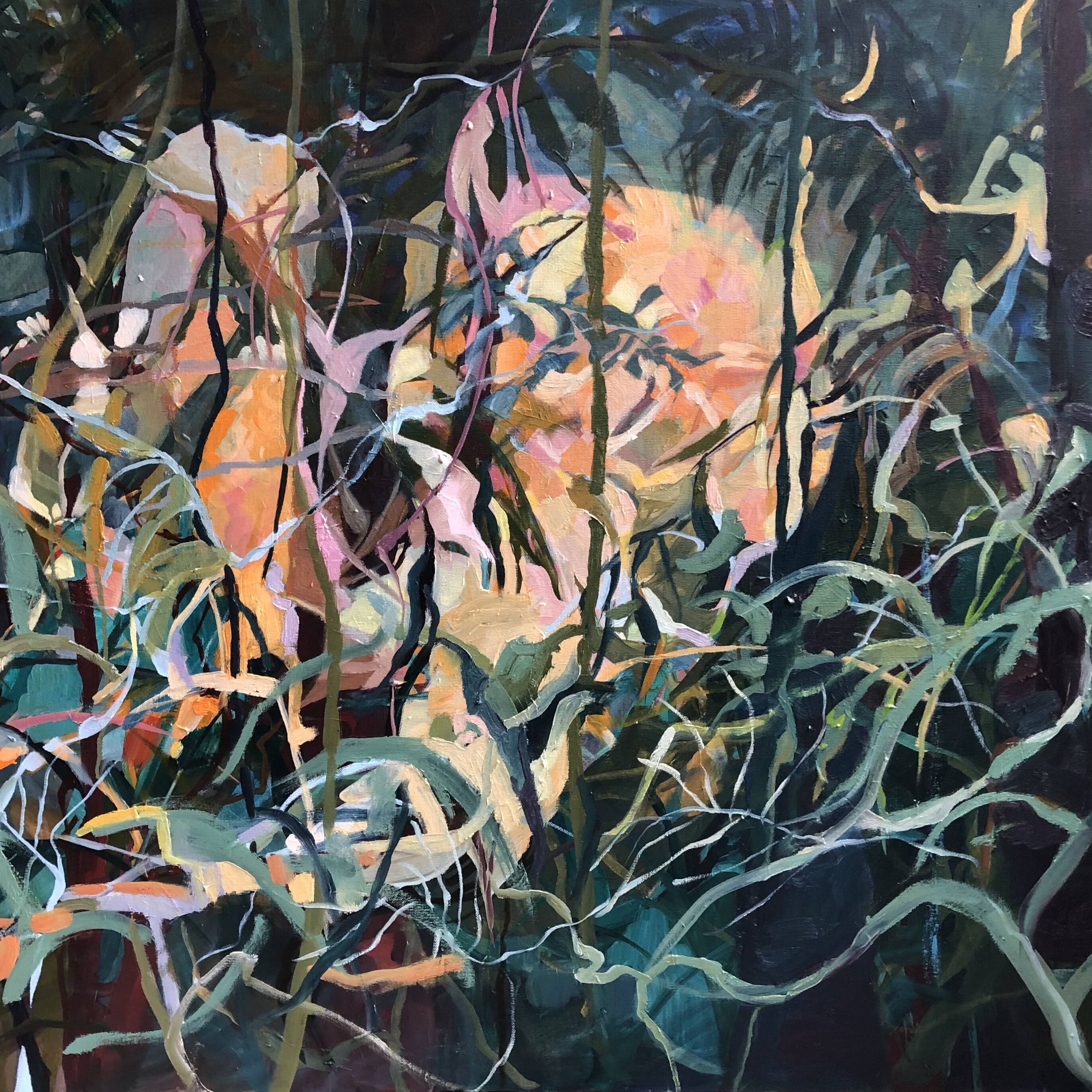 Abstract Image of Foliage, Painting by Erica Wagner
