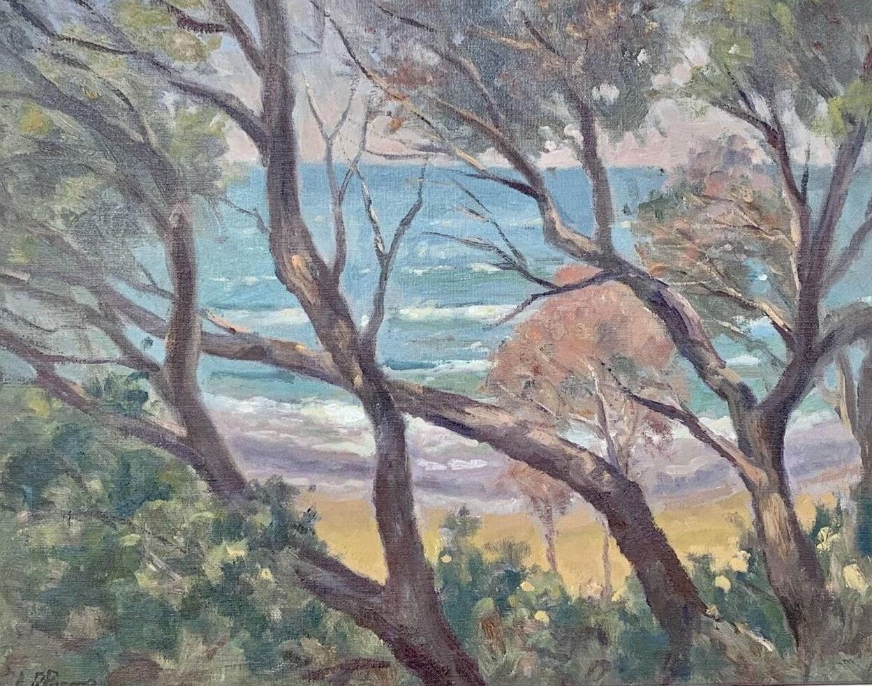 Tea Tree View, Lake Tyers_Oil on Canvas_Leslie Pascoe_550