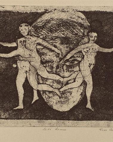 Eros A_lets dance_etching 1988