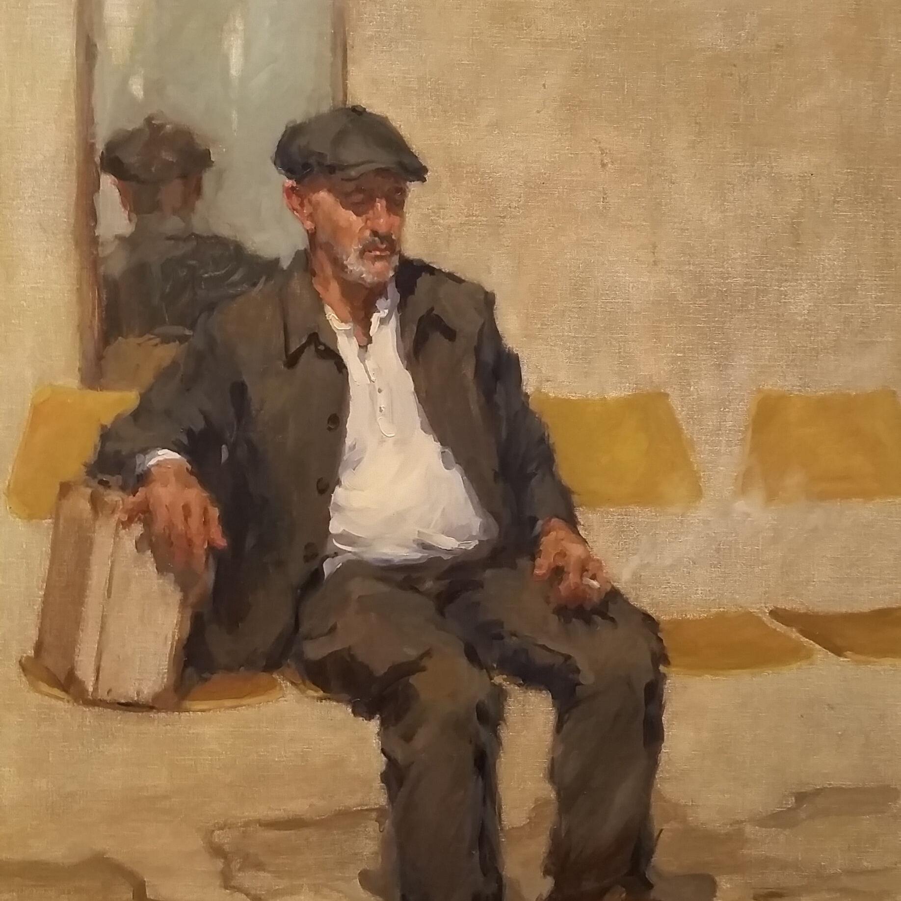 Jen Fyfe VAS—Biglietto Per Uno—Life Portrait Sketch, Oil on Linen, $2800_highly commended 2021