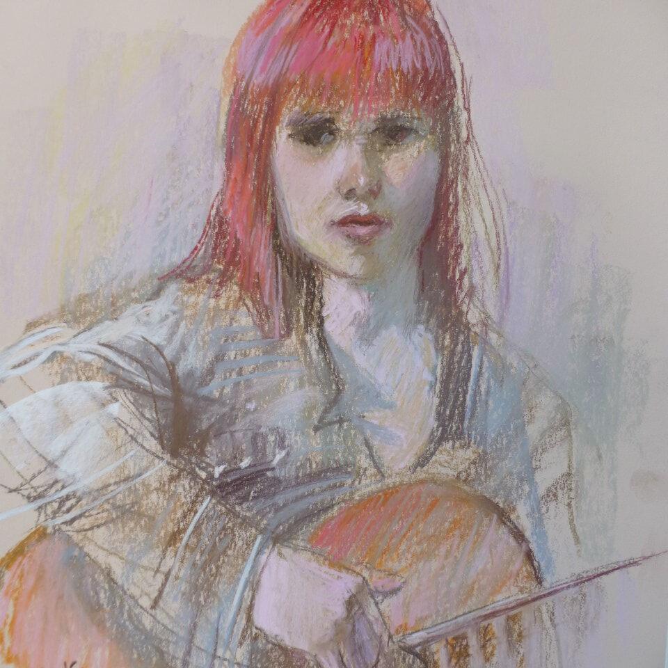 Girl with a Guitar_Barb McManus