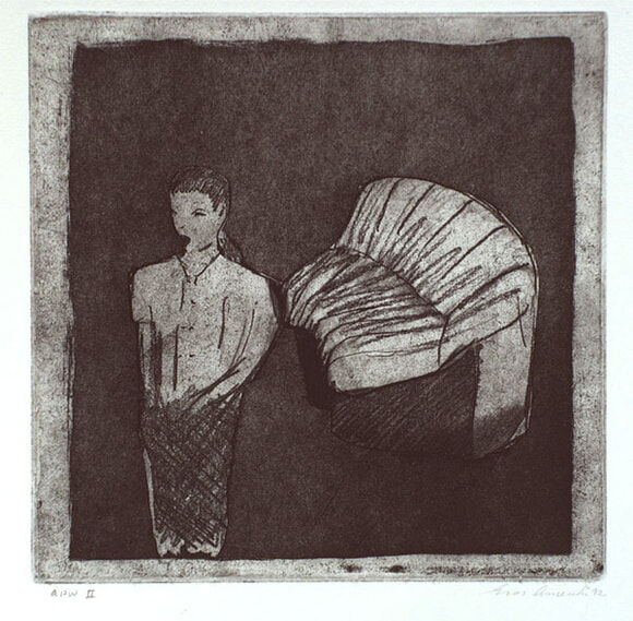 Eros A_singer with couch_etching 1992