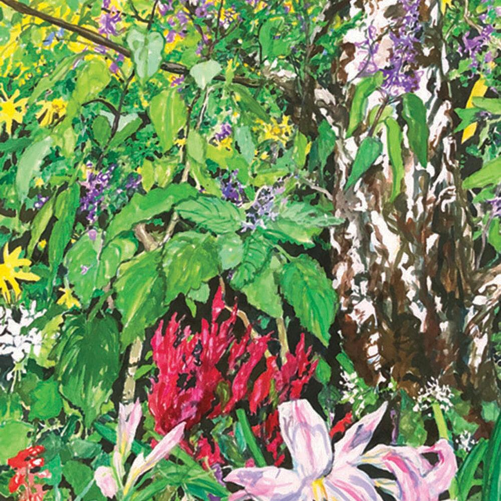 JO REITZE Autumn Garden gouache shown unframed