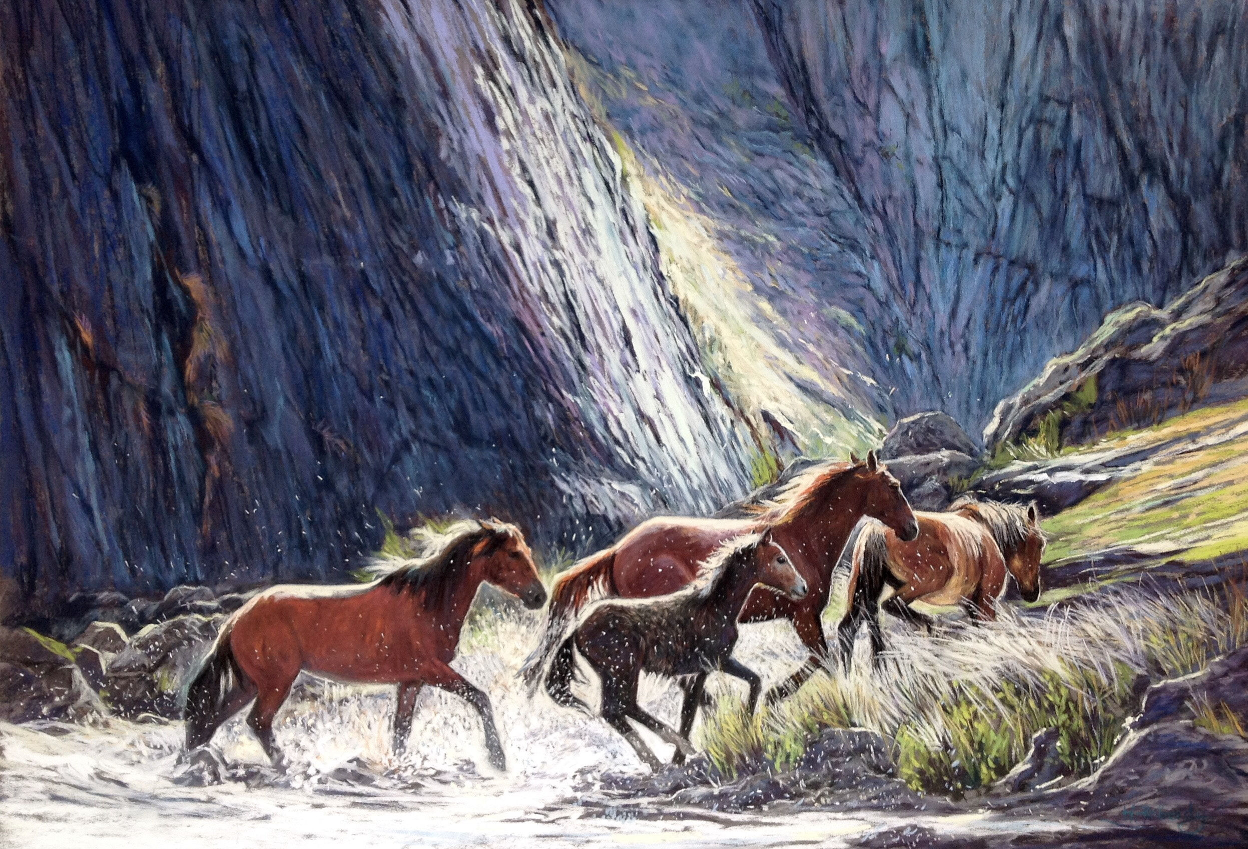 22A_Heather Peberdy_The brumbies take flight_Pastel