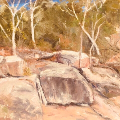 86_Roy Gibson_Woolshed Falls Beachworth_Oil