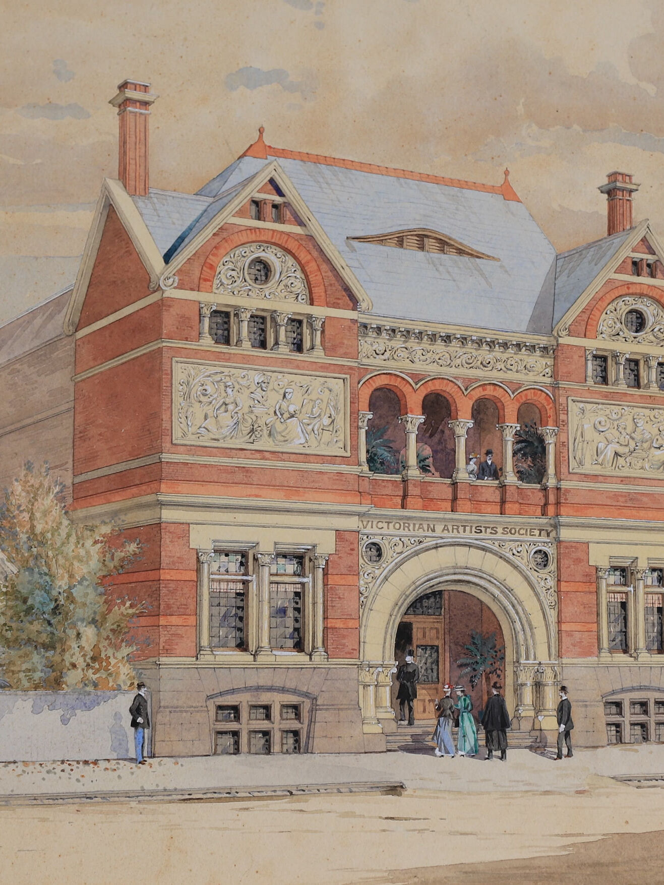 01B_HISTORY__Watercolour on board by Wiliam Tibbits_Painting of Building From Andrew MacKenzie (1)