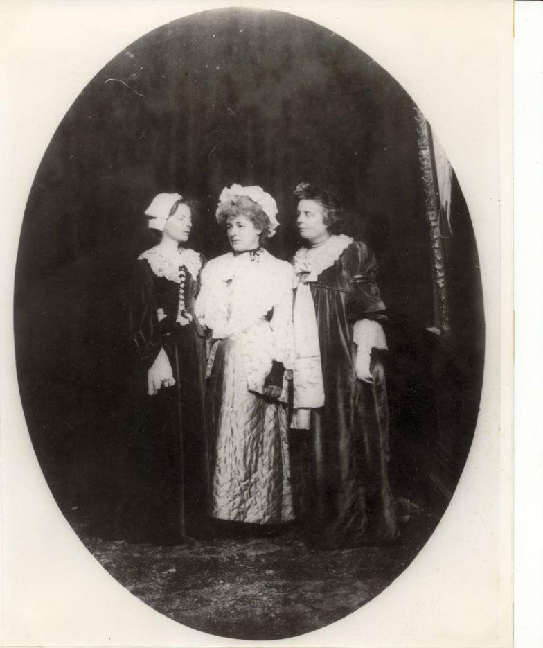 historical photo three old ladies