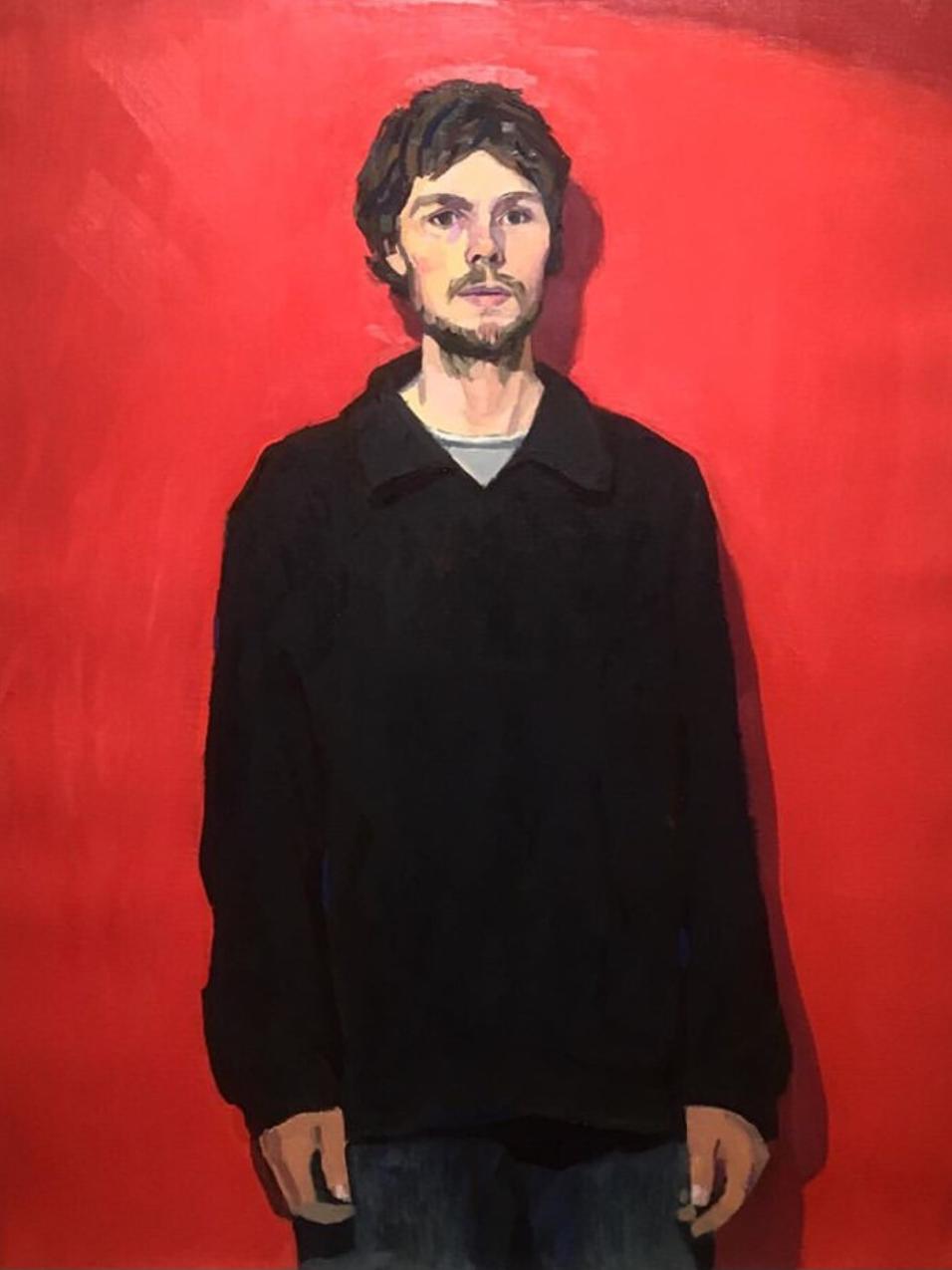 tyler-arnold-self-portrait-in-black-jacket-oil-on-linen-norma-bull-winner-2019
