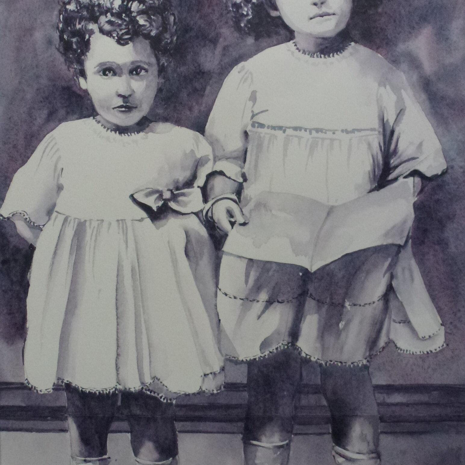portrait Sisters after repair 2