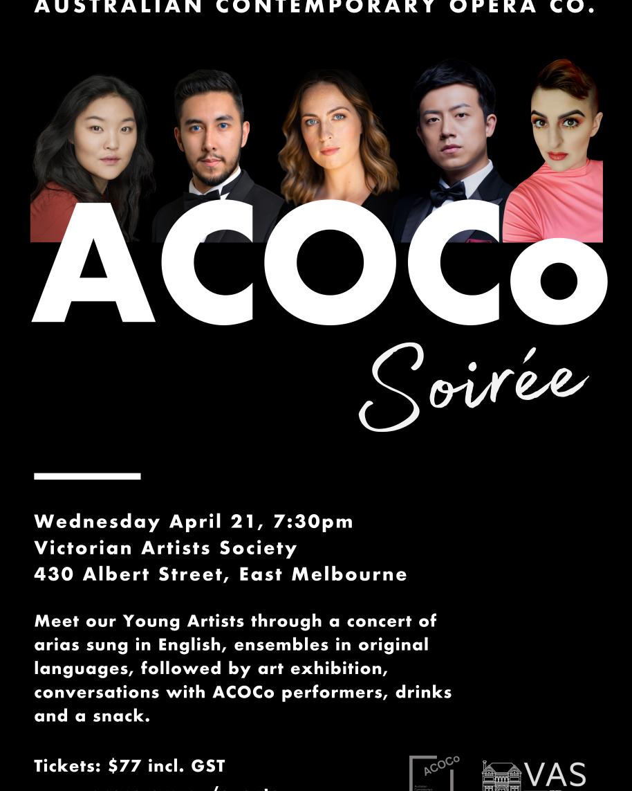 acoco at vic artists society soiree 2021