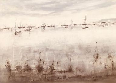 58_Jenny Scholes_A different light, Sorrento_Acrylic, Ink