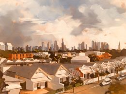 88_Peter Edgeley_City aerial from Commercial Road_Oil on canvas