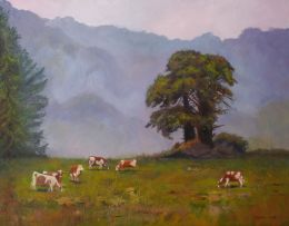 34_Lees Carole, Yarra Valley morning, 57x67 framed, Oil, 595.00
