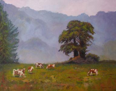 34_Lees Carole, Yarra Valley morning, 57x67 framed, Oil, 595.00