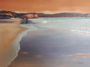 10a_Jude Marganis_In the shallows, Anglesea_Oil