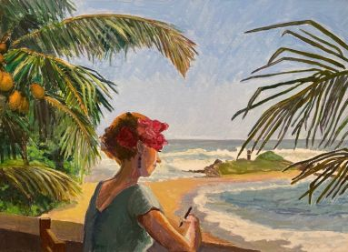 Drawing Tangalle Beach