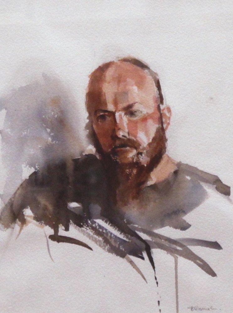33e_Elly Abrat_Bearded Man_Watercolour