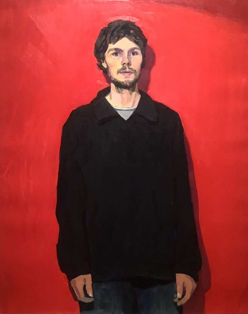 tyler-arnold-self-portrait-in-black-jacket-oil-on-linen-norma-bull-winner-2019