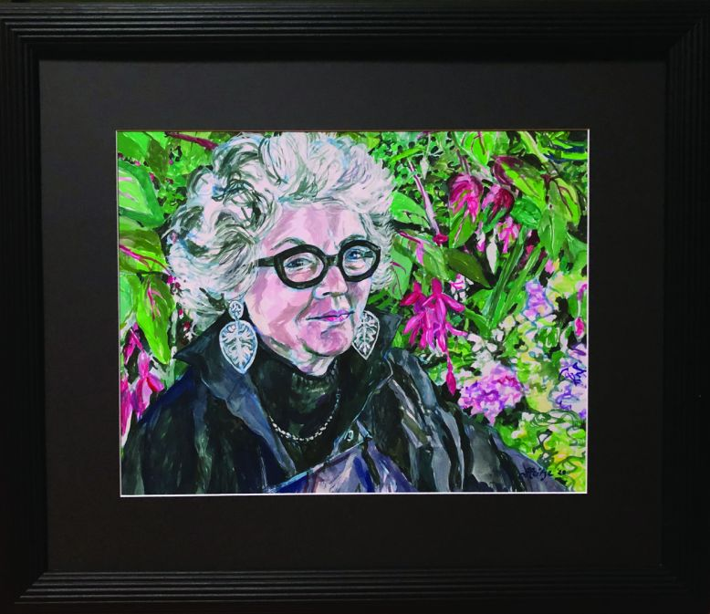 jo-reitze-self-portrait-with-iso-curls-and-my-painting-framed
