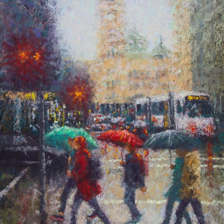 088A_Colin_Shaw_Wet Crossing—Elizabeth Street_Pastel_890