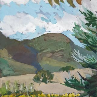 Marion Chapman_View from Louise's farm, Buxton