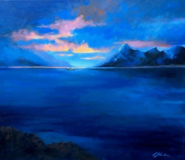 Suzanne Johnston,Capturing the Dark . Midnight in the Arctic Circle