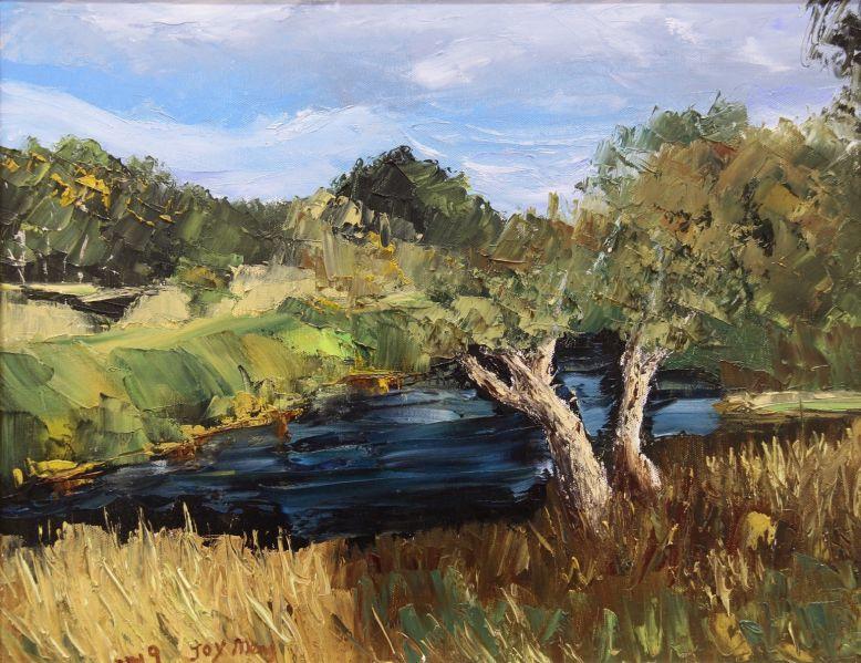 107b_Joy_Meng_Old Tree Beside the River_Oil_NFS